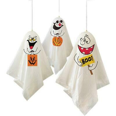 """Halloween Ghost Decorations Measure 35""""Hanging Ghost Incl. Ghost Bags  (2 Pack)"""