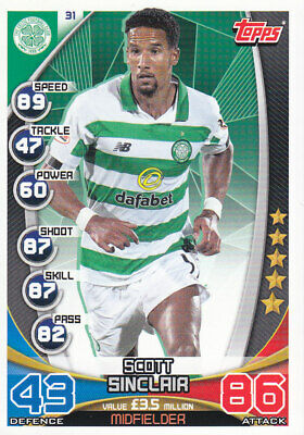 TOPPS MATCH ATTAX SPFL 2019-20 - Scott Sinclair - Celtic - # 31