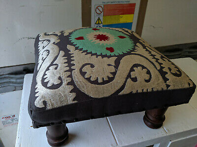 Patterned square footstool Tc061019D