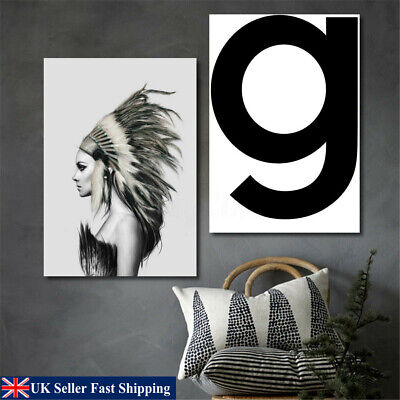 50x70cm Indian Girl Abstract Canvas Art Print Painting Home Wall Hanging Decor