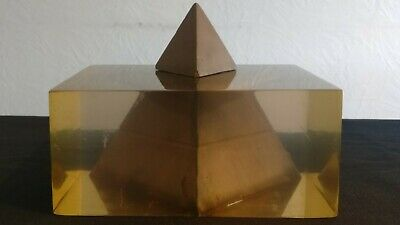 Pierre Giraudon Pyramid in Inclusions Resin 1960