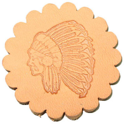 Indian Chief 3-D Stamp 88429-00 Leathercraft