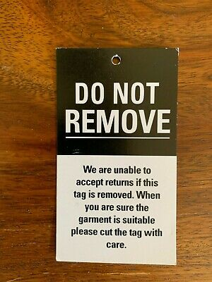 """Security """"DO NOT REMOVE"""" Swing Hang Tags Display Labels for Clothing"""