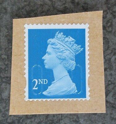 Single off centre fault error 2nd class stamp Unfranked on Paper Free P&P in UK