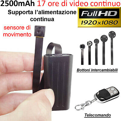 Spy Camera Micro Telecamera Spia Nascosta Microcamera Full Hd Motion Detection