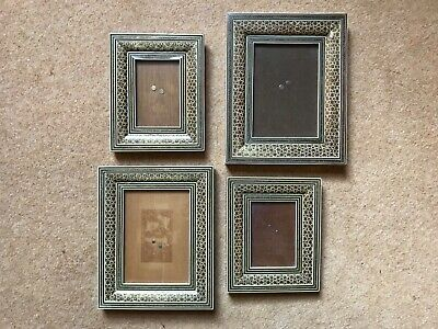 Set of Four Persian Khatam inlaid picture frame s