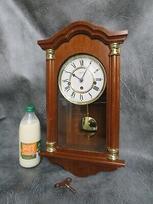 A Very Good Small Mahogany Cased Hermle Westminster Chime Wall Clock *Serviced*