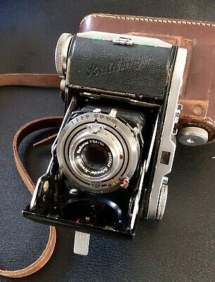 Vintage Balda Baldinette Folding Film Camera,Schneider Radionar Lens,Case,German