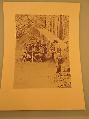 Vintage 1970's Norman Rockwell Boy Scout  We Thank Thee O' Lord Print