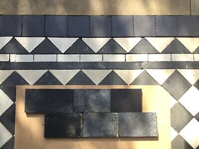 Original Encaustic Reclaimed Antique Victorian floor path Border tiles