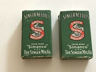 "2 Boxes Of 100 ONS Vintage Singer Sewing Machine Needles ""Simanco"" 16 X 231 -11"
