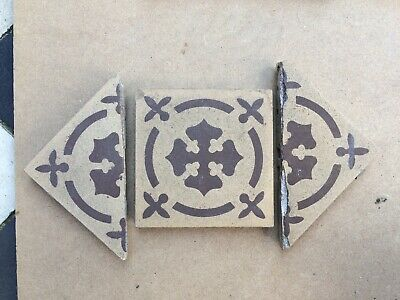 Original Encaustic Reclaimed Antique Victorian Edwardian floor tiles
