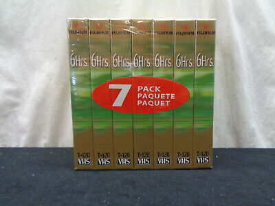 Pack Of 7 Sealed Fuji Film 6 Hrs. Pro Video Cassettes (OAY36)
