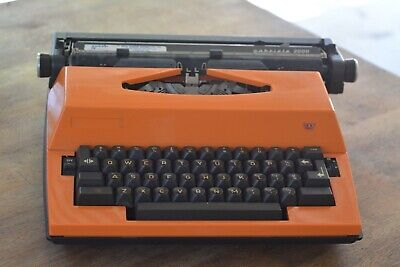 Retro 1970's Adler Portable Electric Typewriter - ORANGE