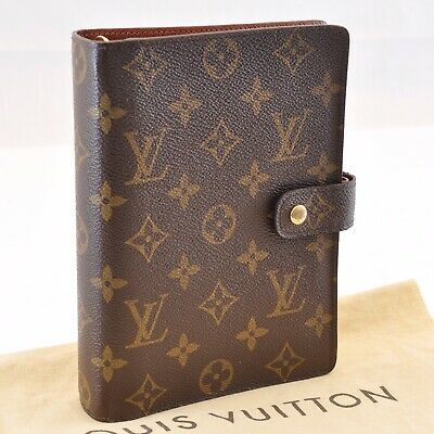 LOUIS VUITTON Monogram Agenda MM Day Planner Cover R20105 LV Auth sa1607