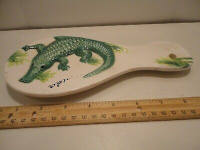 Vintage Souvenir Florida Spoon Rest Wall Decor Alligator