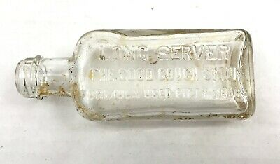 Long Server Cough Syrup Bottle Antique Medicine Container Apothecary