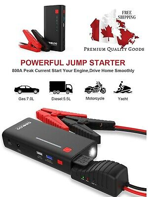 Upgraded Car Jump Starter 800A Peak 18000mAh Up to 7.0L Gas battery booster new