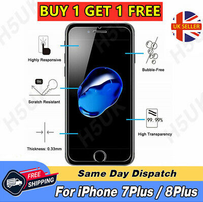 Screen Protector For Apple iPhone 7Plus - Tempered Glass 100% Genuine