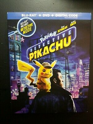 Pokemon Detective Pikachu (Blu-ray + DVD) 2019 w/ SLIP COVER (NO Digital Code)