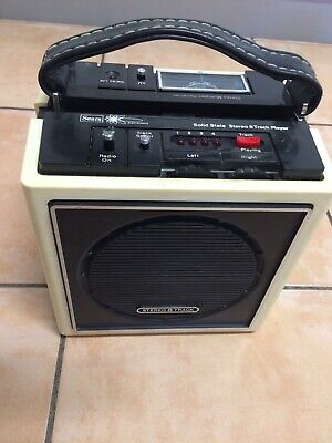 Portable Sears 8 track player & AM/FM radio runs on AC & Batteries works perfect