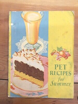 Antique 1932 PET Recipes For Summer Recipe Cookbook Vintage Milk Desserts Cakes