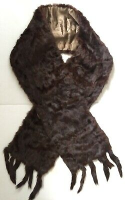 Vintage Dark Chestnut Squirrel Fur Stole / Wrap. Sale for charity