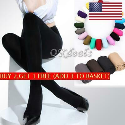 HOT 120D Thick Sexy Stockings Pantyhose Opaque Tights Footed Socks