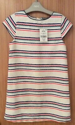 Girls Striped Shift Dress From Next Age 10 Brand New With Tags