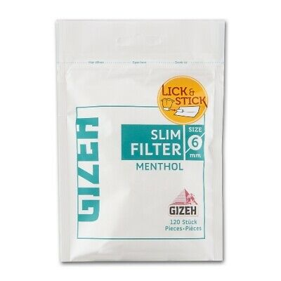 Gizeh Slim Filter Menthol 6mm 20 x 120er Beutel