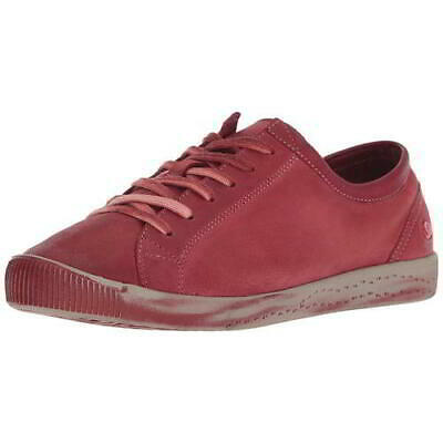 Softinos by Fly London Isla Womens Soft Leather Red Trainers Shoes Size 4-8
