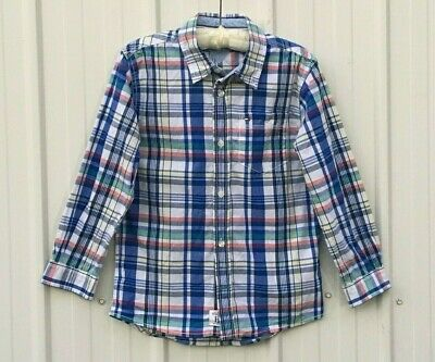 Tommy Hilfiger Boys Size 7 Check Shirt, New Without Tags.