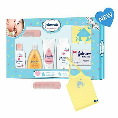 Johnson'S Baby Care Collection Baby Gift Set With Organic Cotton Baby Tshirt