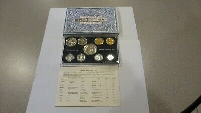 Scarce 1971 Republic Of India Proof Set With Original Box And Certificate