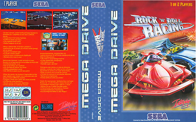 Rock n' Roll Racing Sega Mega Drive PAL Replacement Box Art Case Insert Cover