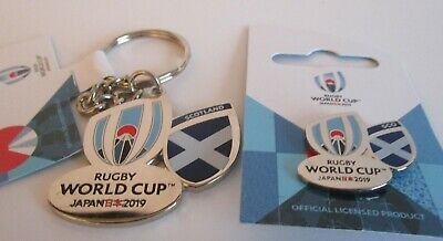 NEW Nickel RWC 2019 Rugby World Cup Japan 2019 SCOTLAND Keyring + Pin Badge