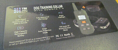TBI Pro T-4 Dog Shock Training Collar with Remote Heavy-Duty Green - Open Box