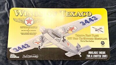 Wings of Texaco Promo Gas Station Sign 1927 Ford Tri-Motored Plane Die Cast Bank