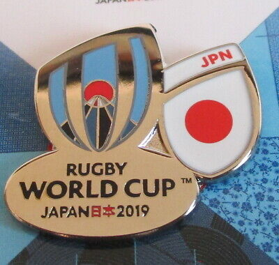 NEW Nickel RWC 2019 Rugby World Cup 2019 JAPAN Pin Badge