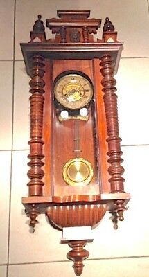 19th CENTURY WALNUT VENEERED REGULATOR WALL CLOCK