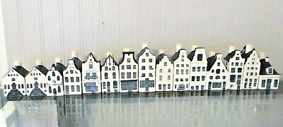 KLM BOLS Amsterdam  DELFT BLUE Miniature Houses Sealed PERFECT CHOICE of 14