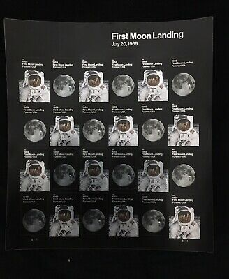 USPS New 1969:  First Moon Landing Pane of 24 Stamps