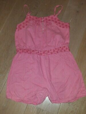 Monsoon Girls All In One Shorts Playsuit Pink  Age 11-12yrs