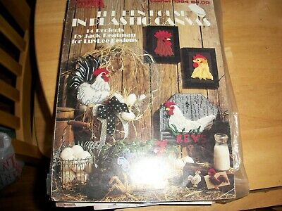 Chicken Kitchen Set Quick Count Plastic Canvas Booklet Roosters /& Hens 53019