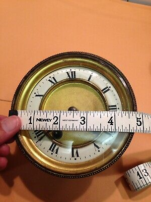 Vintage Antique Clock Glass Face Enamel Dial Machinery Movement Spares & Repairs