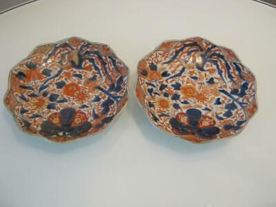 STUNNING PAIR OF ANTIQUE 19th CENTURY JAPANESE IMARI PORCELAIN PLATES