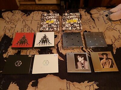 Exo M/K cd lot! XOXO Miracles in December Overdose Mama and Exodus! photocards!