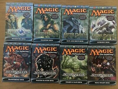 MTG Collection of 8 Mirrodin Block theme decks