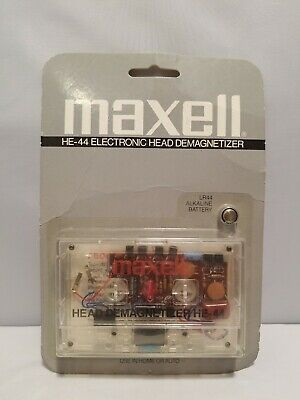 Brand New Vintage Maxell Electronic Cassette Tape Head Demagnetizer HE-44