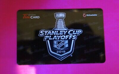Tim Hortons Stanley Cup Playoffs 2016 Gift Card wow mint!!